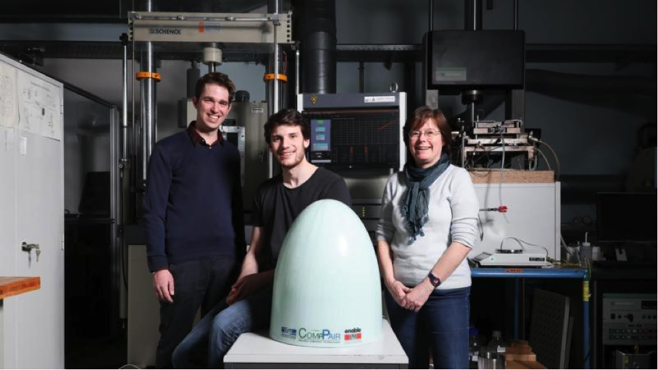 A self-healing composite featured in JEC and EPFL news